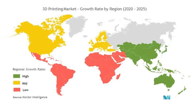 نرخ رشد منطقهای مارکت